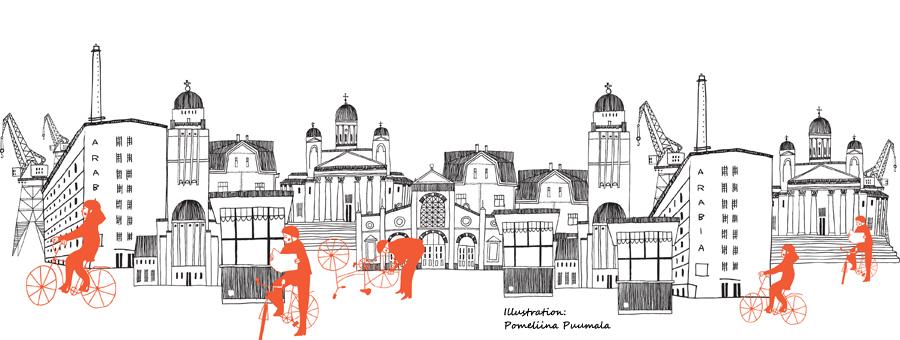 Liikkuvan Arjen Design, kuvitus Pomeliina Puumala