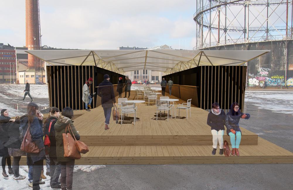Final Thesis. Food court. 2016. Kia Koponen. Interior Architecture. Photo: Kia Koponen. Ruokapiha.